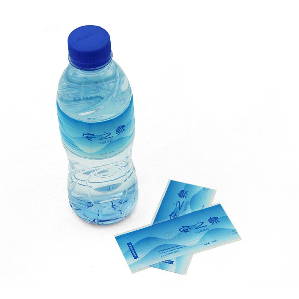 Feria de Cantón mostrar etiqueta privada de la botella de agua de psiquiatra con etiqueta de impresión de colores