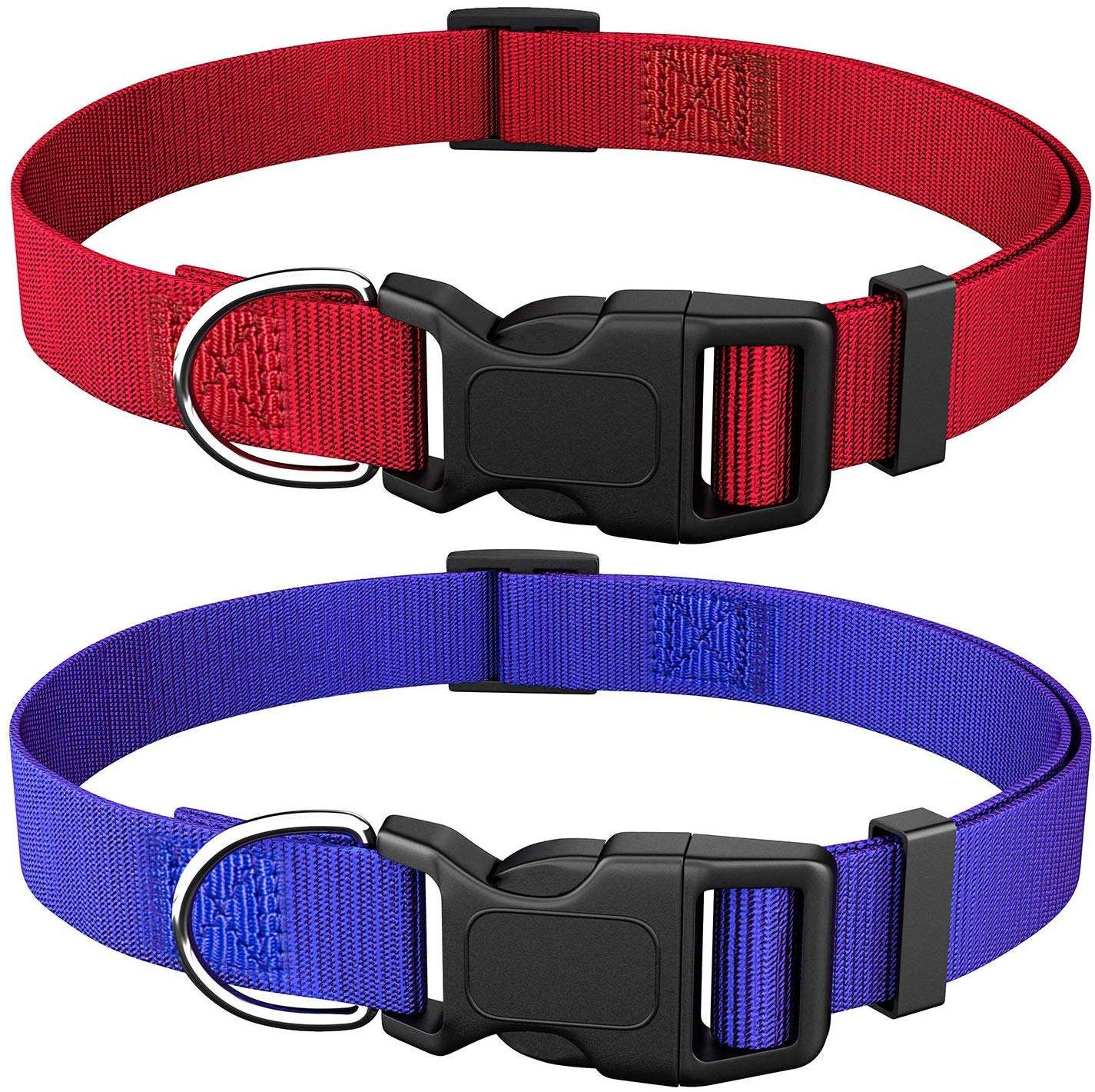 Kingtale solid color soft basic nylon dog pet collar for daily walking