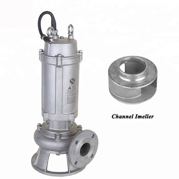 1hp stainless steel Big Flow submersible sewage pump chemical dirty water sump pump ss304 underground waste water drainage pump