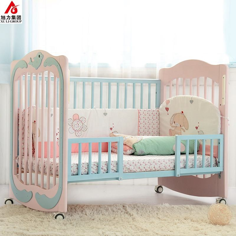 Multifunctionele Franse Ontwerp Baby Crib Bedding Set Massief Hout Babybedje <span class=keywords><strong>Bed</strong></span>
