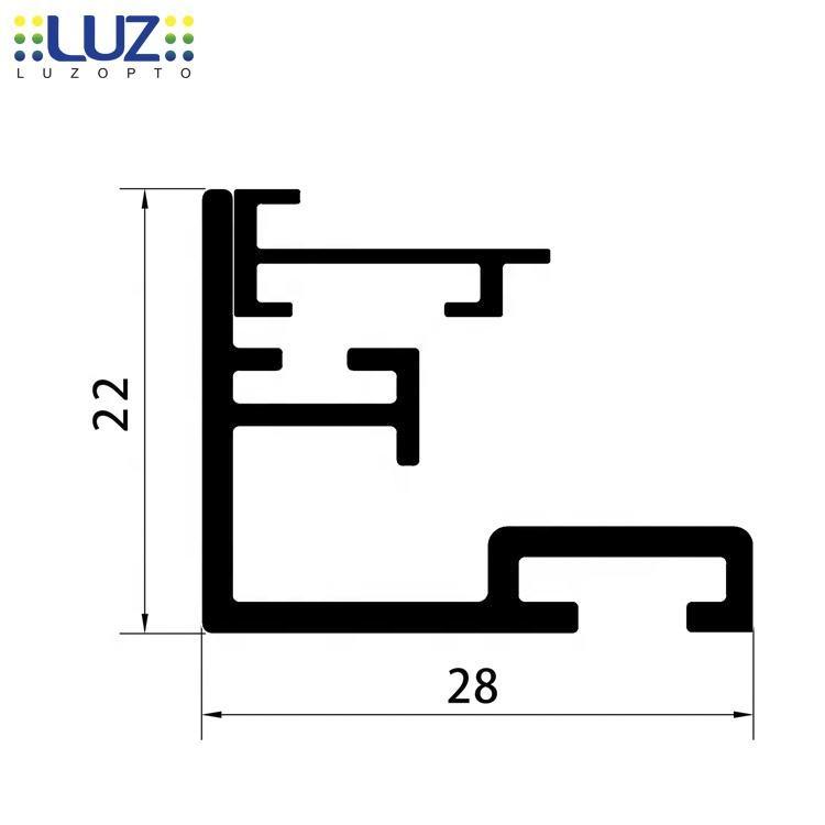 بالجملة!!! AL-2228 الألومنيوم صندوق إضاءة LED سطوع عالية مع إطار بلاصقة لمطعم