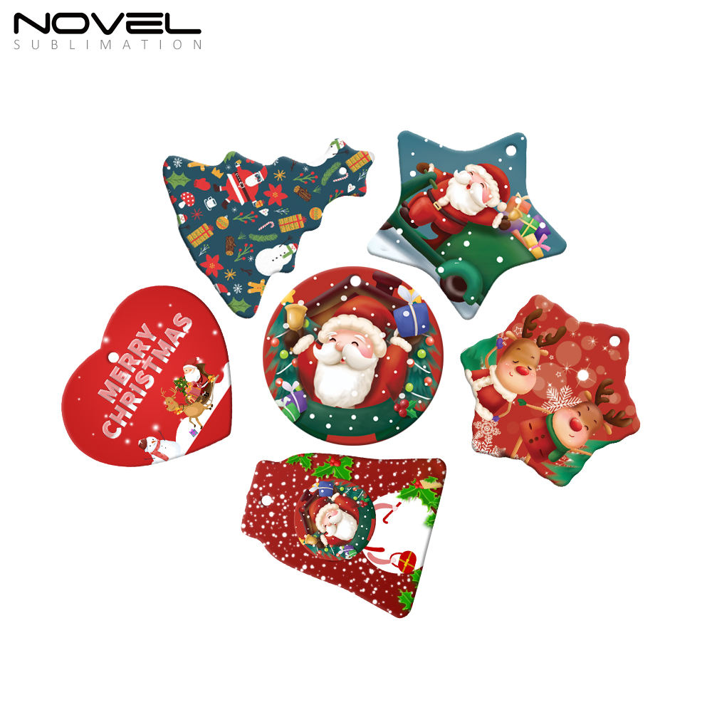 Hot Selling Santa Ornament crafts sublimation Hanging Christmas Tree Decoration Polymer Xmas Ornament