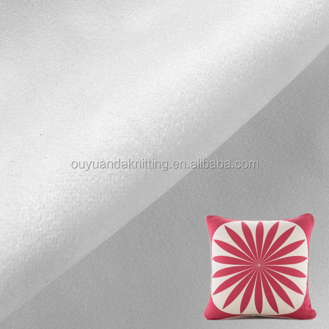 100% Polyester Velvet White Color 0.5mm Super Soft Pillow Cover Fabric for Sublimation Printing