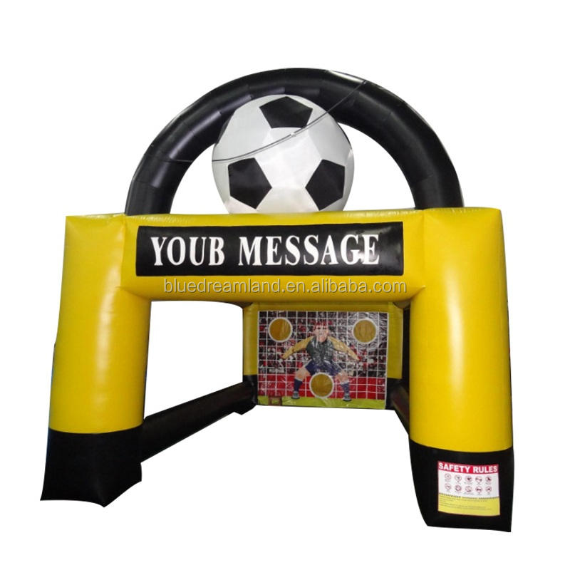 New product inflatable football/soccer shooting goal/target wholesaler