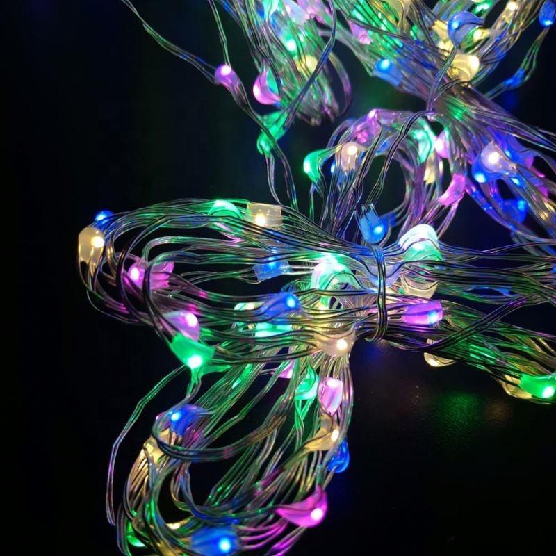 Tous les vacances Nom De Vacances et 5 V/1.2 V/2AA boîte de batterie De Noël A MENÉ LA <span class=keywords><strong>lumière</strong></span> de ficelle de fil de cuivre