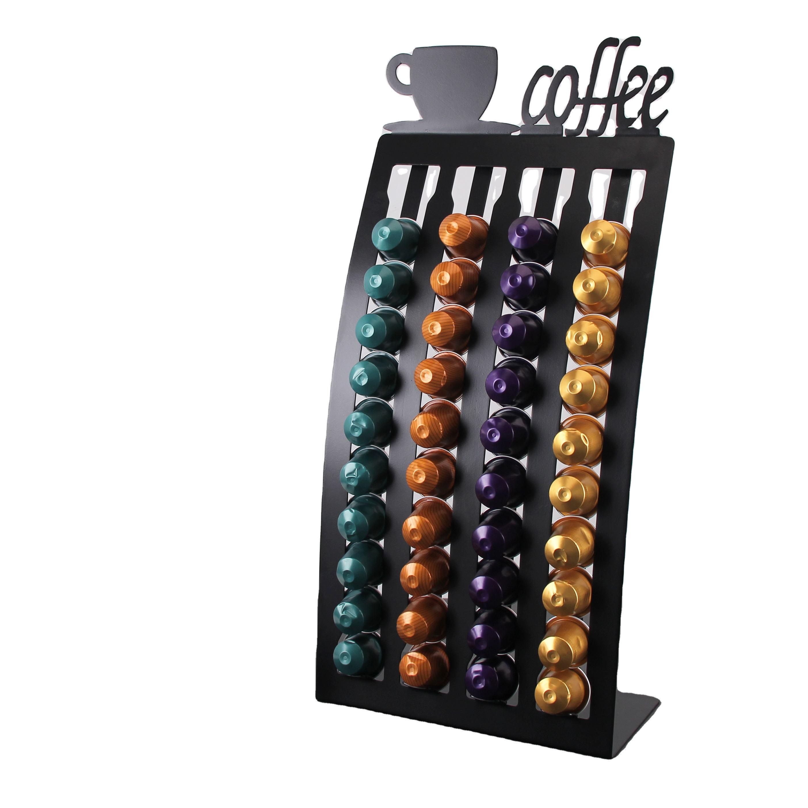 40pcs di Colore Nero In Piedi di Ferro Macchina Da Caffè Nespresso Capsule Supporto