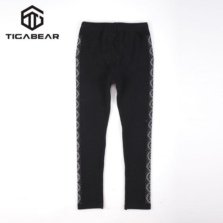 Классические детские мягкие повседневные штаны для девочек черные леггинсы