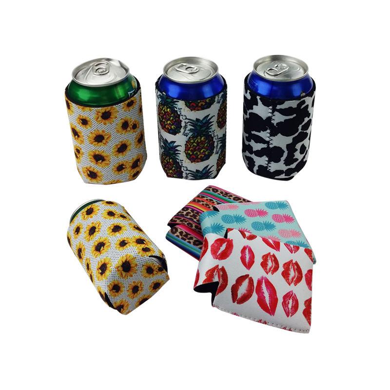 Free Shipping Outdoor Custom Design 330ml Stubby Holder for Beer Cola Can Neoprene Cooler Water Bottle Holder