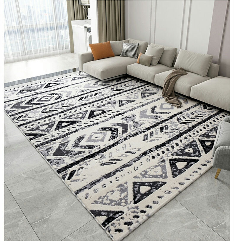 Elegant Popular Moroccan Style Big Fluffy Furry Home Floor Carpets With High Quality