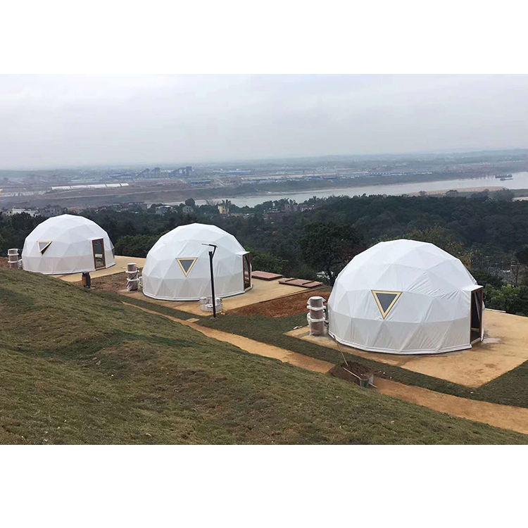 Alta calidad marco de metal gigante evento turismo carpa de cúpula