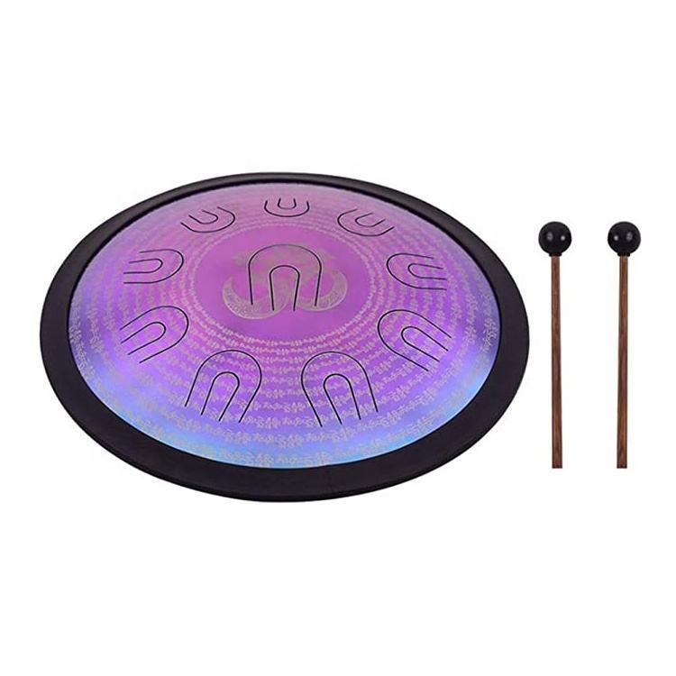 Alta calidad 14 pulgadas D-menor de acero de aleación 11 doble tono instrumento de percusión de la lengua tambor