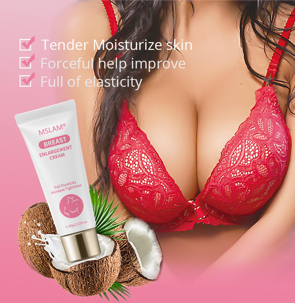 MSLAM LADY Breast Boobs Care lotion Firming Gels Coconut Rose Essential Oil Enhancement Cream
