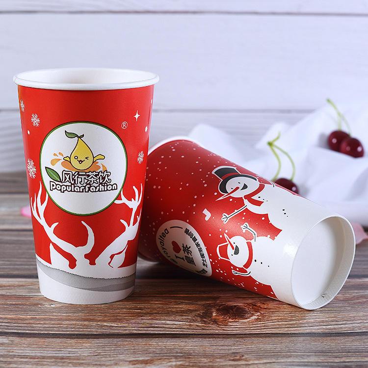 Оптовые рождественские дешевые индивидуальные биоразлагаемые отделочные материалы одноразовые бумажные стаканчики для вечеринок