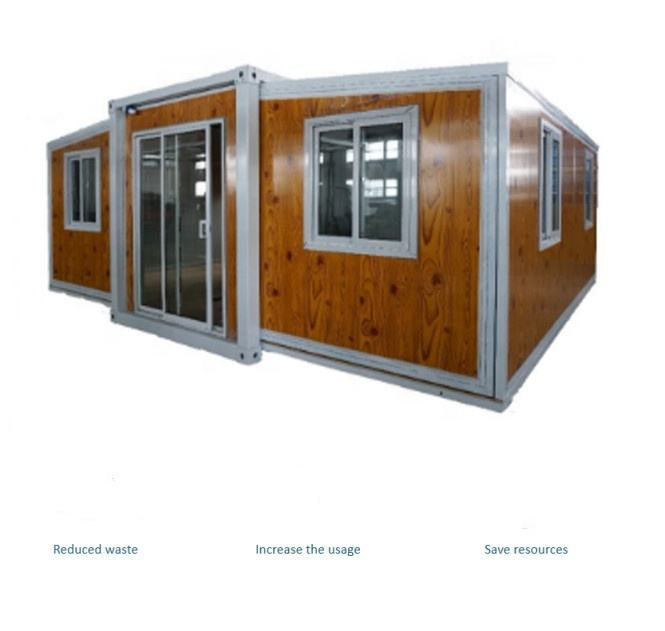 Hot selling China 40 ft expandable container house luxury prefabricated expandable container house for living