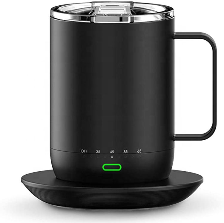 New Ember Temperature Control Smart Mug 12 oz, App Controlled Heated Coffee Mug - Improved Design