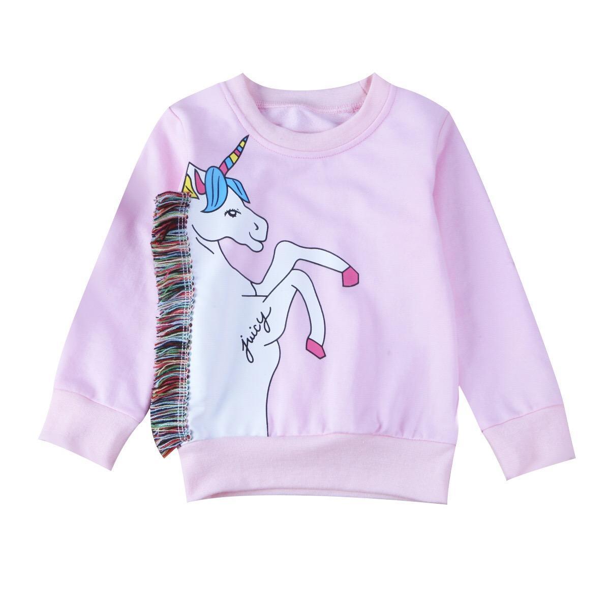 Хлопковый свитшот с длинными рукавами и принтом в виде героев мультфильмов без капюшона для маленьких девочек