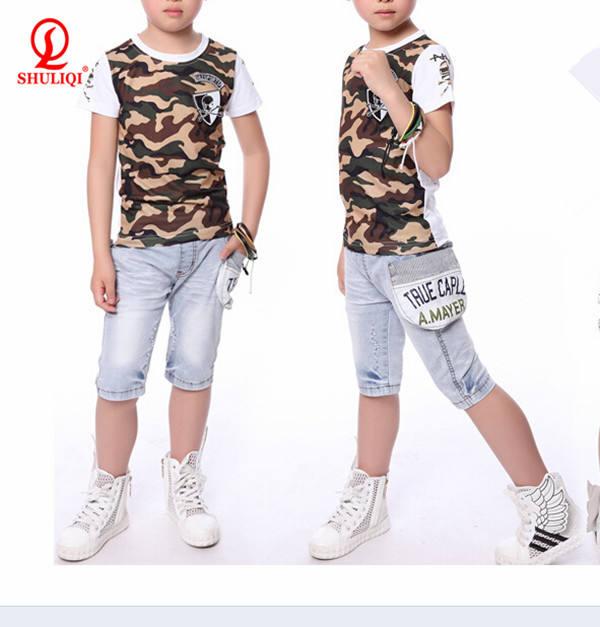 Футболка с короткими рукавами/Одежда для мальчиков Сделано в Китае одежда детская одежда наборы для одежды