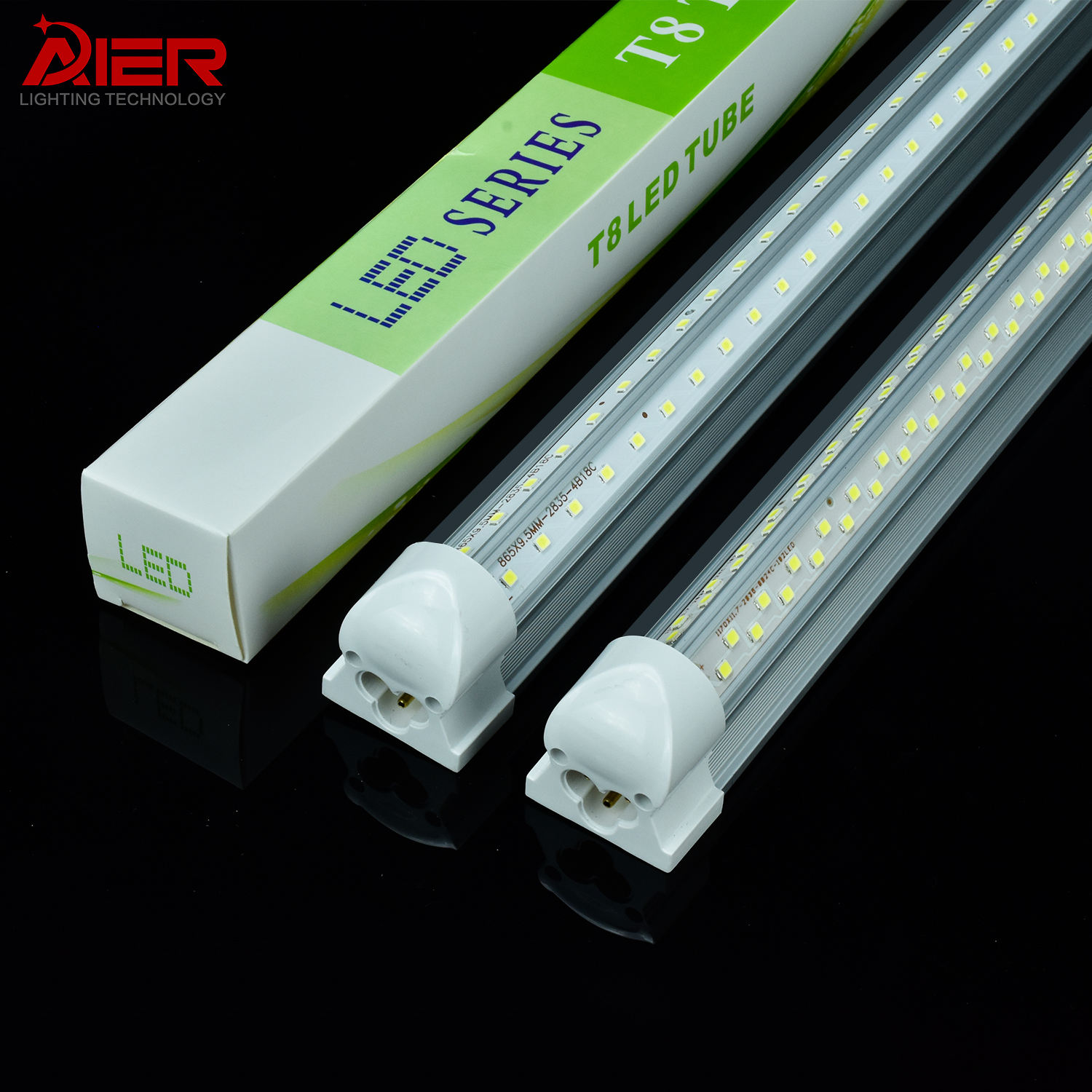 Super Bright Indoor Lighting V Shaped Shop Lights 4FT 8FT Integrated T8 Led Tube