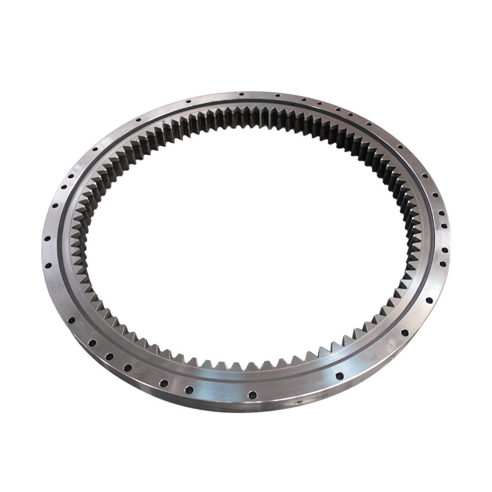 Internal geared contact ball turntable bearing slewing ring