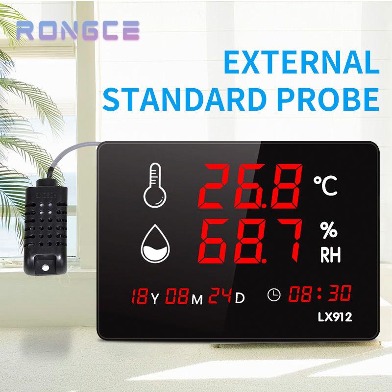 <span class=keywords><strong>Gran</strong></span> display digital LED con calendario y hora con sonda externa termómetro industrial e higrómetro