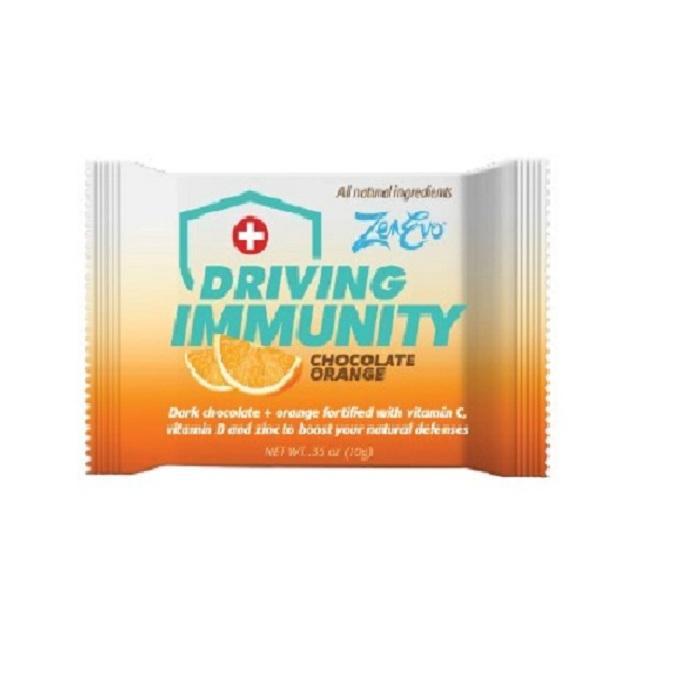 Vitamin C, D3, and Zinc Gluconate Zenevo driving Immunity Chocolate Squares