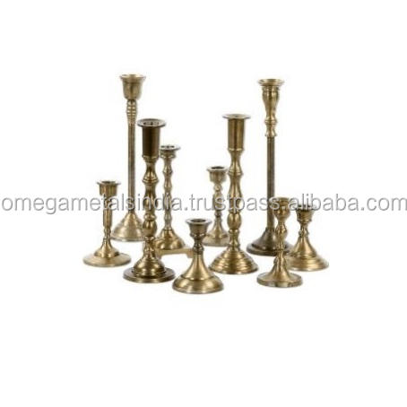 Candle Holder Stick Tapered Luxury Fancy Wedding Hanging Candlesticks Gold Stand Decorative Metal Candle Holder