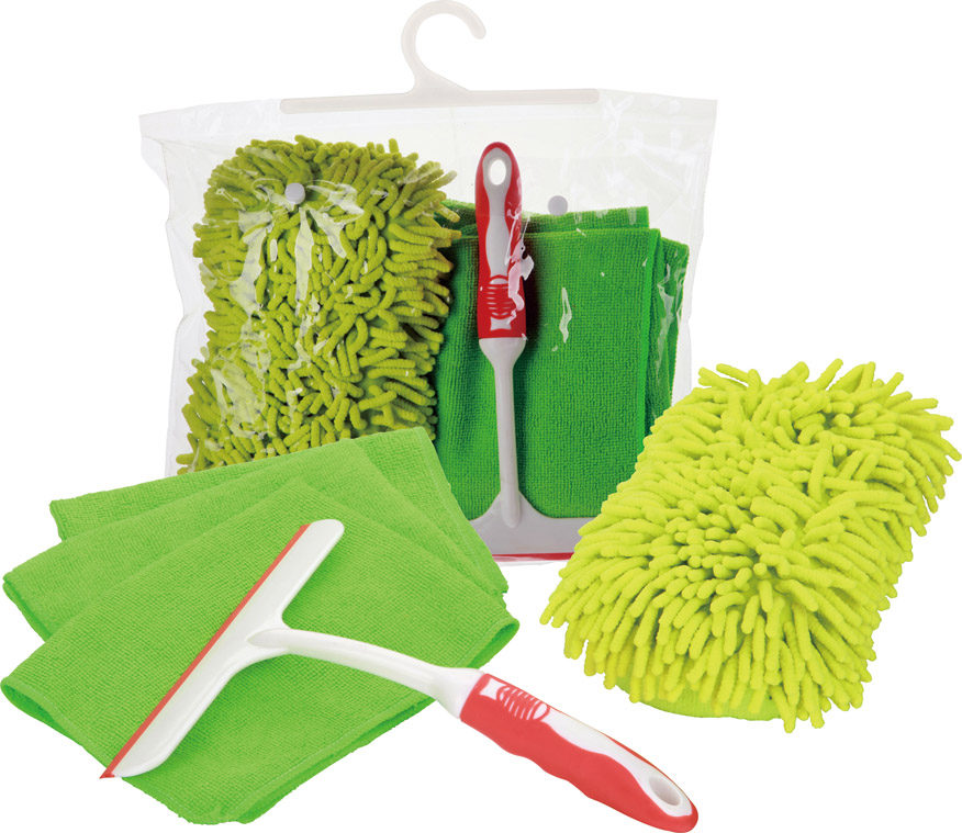 PVC Bag Microfiber Cloth Car Wash Tool Kit Car Care Cleaning Kit Set