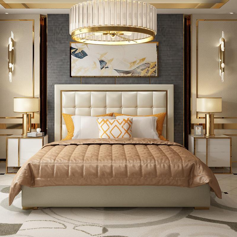 Royaume-uni luxsery marque multifonctionnel lit king size moderne chambre ensembles meubles