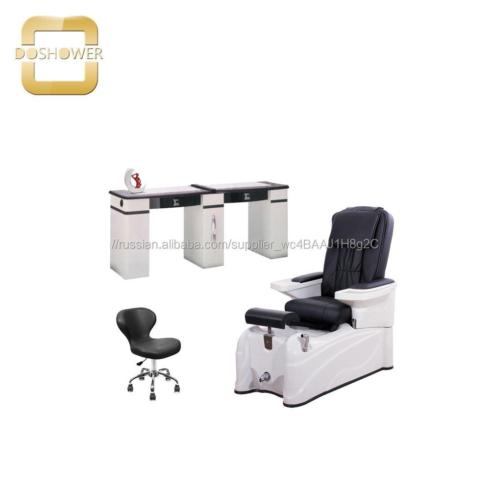 стеклянная бутылка с водой с гипоаллергенный ультрафиолетовый гель для массажа, педикюр, кресло для продажи