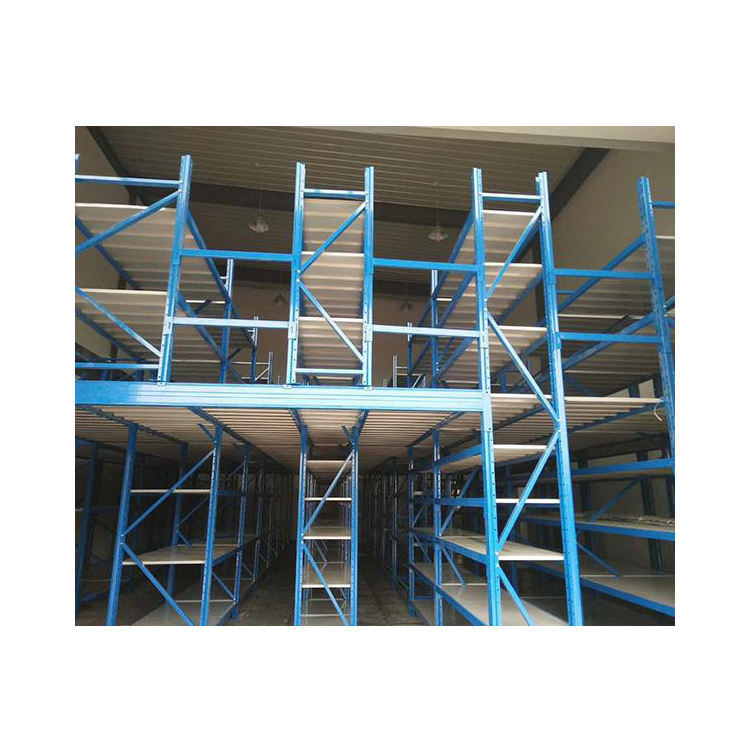 Mezanino Cold-rolled Steel <span class=keywords><strong>Rack</strong></span> <span class=keywords><strong>de</strong></span> Armazenamento <span class=keywords><strong>De</strong></span> Metal, Suportes <span class=keywords><strong>De</strong></span> Armazenamento Pesados Fornecedores
