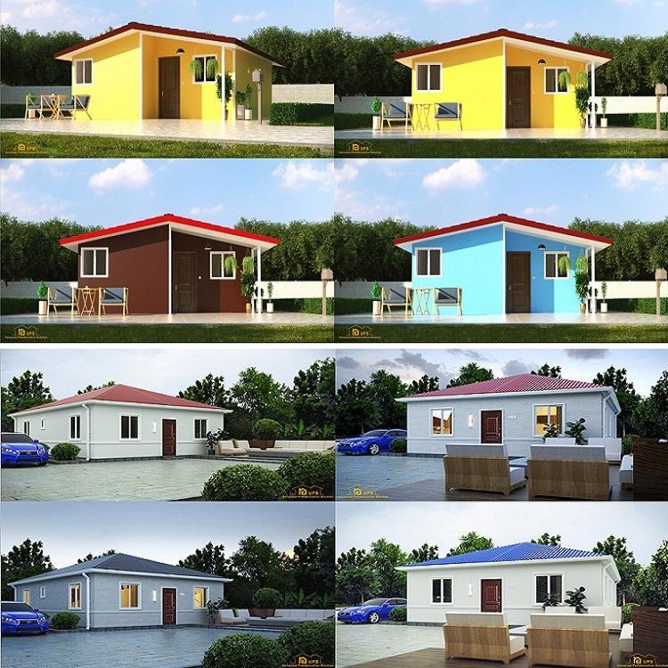 Neue bau projekt plan stahl struktur gebäude oder beton <span class=keywords><strong>mini</strong></span> haus mit modulare küche und toilette tragbare design