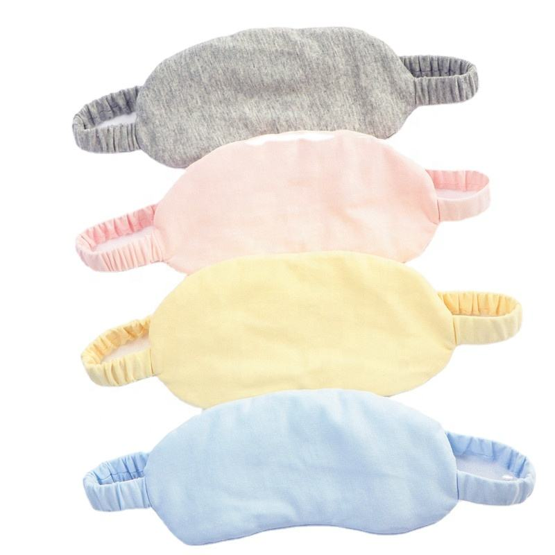 New Design Filling Soft Organic Cotton Elastic SleepMask For Travel Flight