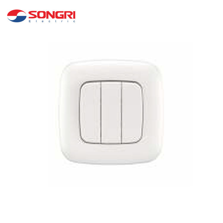Songri China Fabricante 10A 250 V 3 1 Gang Switch Forma