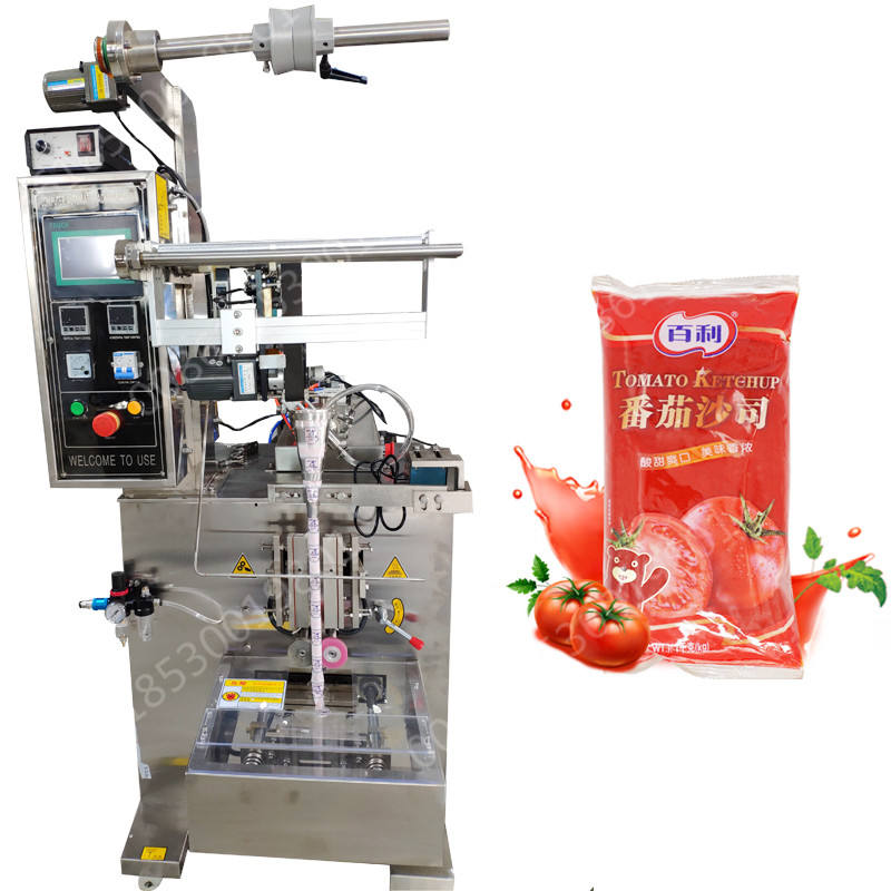 Hot selling automatic hand sanitizer oil honey sauce jam ketchup salsa tomato paste small sachet bag liquid packing machine