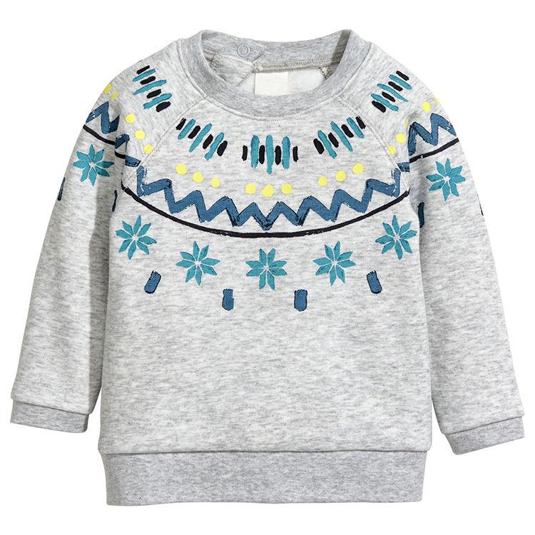 Детская осенняя одежда для маленьких девочек, оптовая продажа, пуловер с милым мультяшным принтом, Детские свитшоты