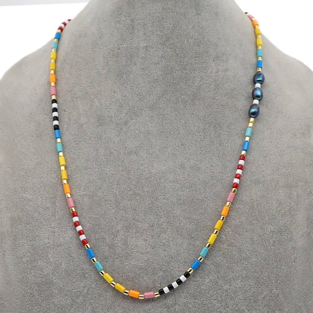 Go2boho chaîne de masquage de perles pour femmes chaînes de lunettes de soleil à perles arc-en-ciel