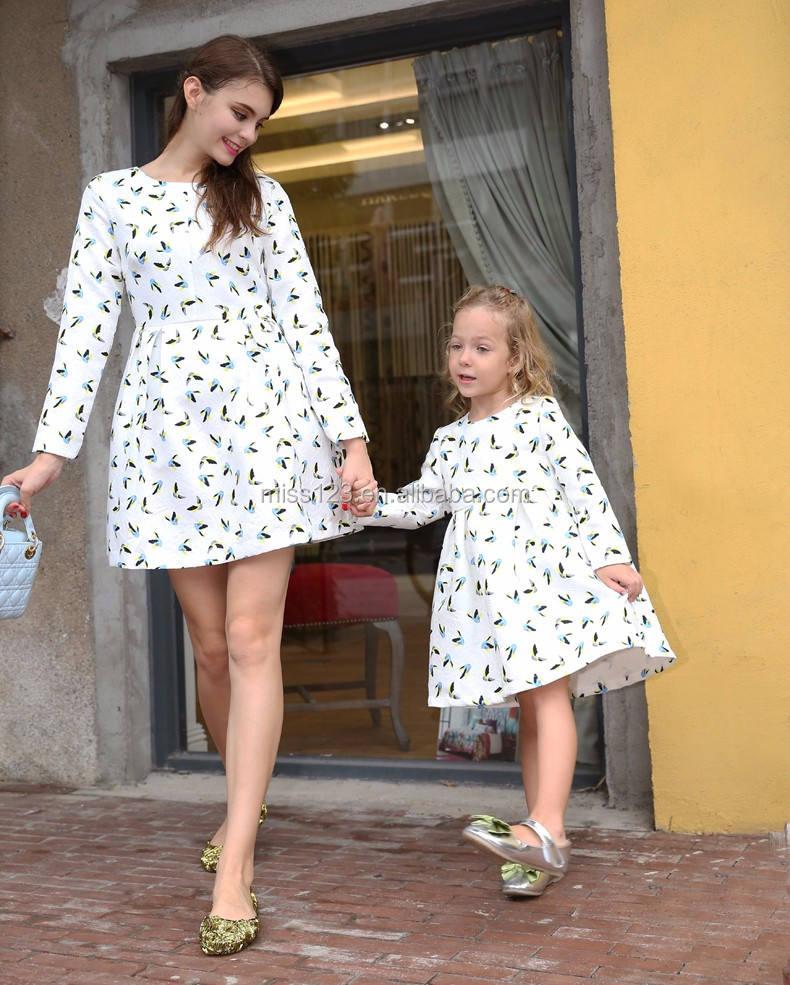 """Высокое качество; Одежда для семьи с длинным рукавом и принтом """"Мама и я"""", раздел-одежда платье"""