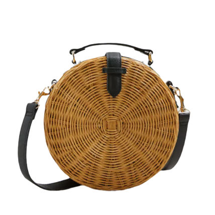 2020 new One shoulder dinner woven bali rattan straw bags