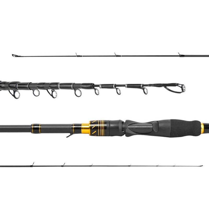 Venta al por mayor 2 piezas de contenido de carbono 99% de fibra de carbono bajo Rod girando/de caña de pescar