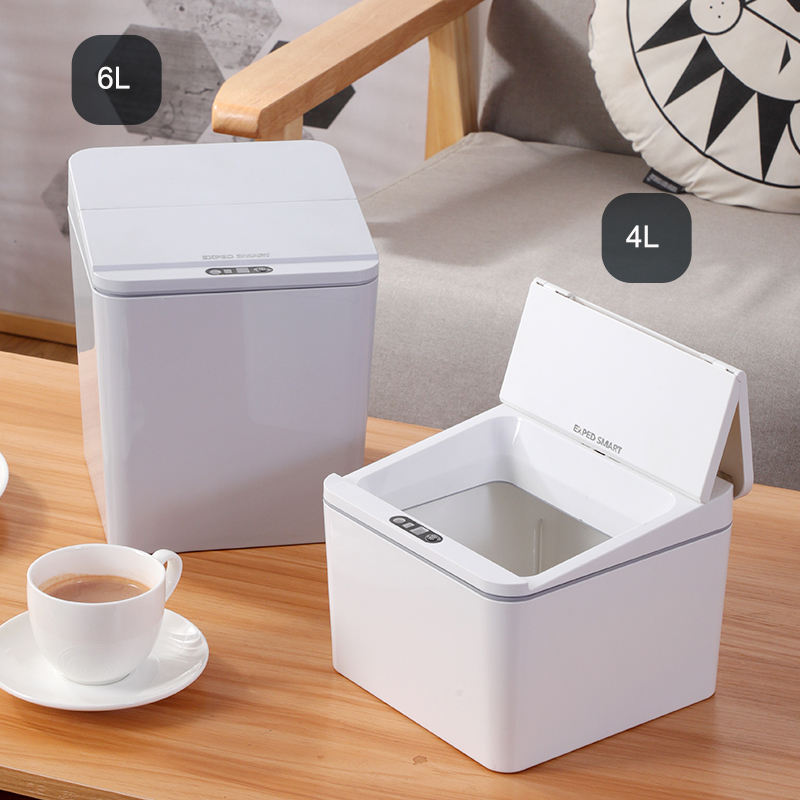 Automatic Trash Can PANDUN Smart Desktop Storage Box Trash Can Induction Small Car Box Automatic Trash Can Smart Dustbin Smart Trash Bin