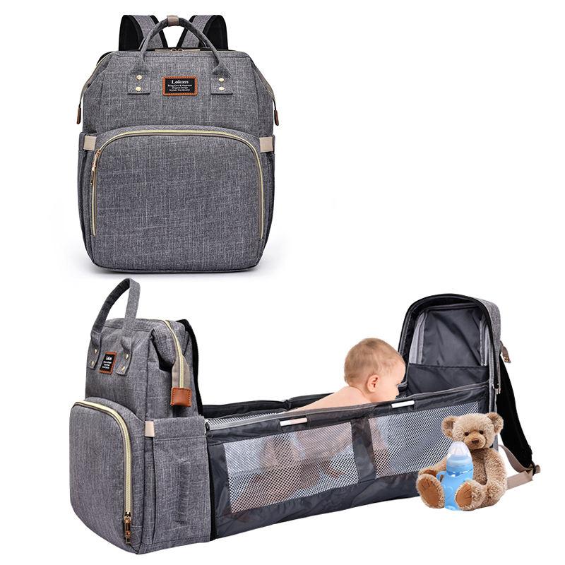Venta al por mayor para cambiar pañales estación mamá bolsa mochila portátil cuna para bebé cuna bebé cama nido con colchón