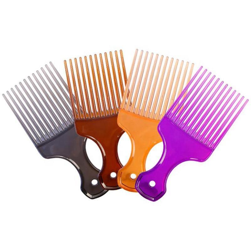 Ningbo fábrica de sublimação personalizado plástico colorido picareta do cabelo <span class=keywords><strong>pente</strong></span> largo do dente <span class=keywords><strong>pente</strong></span> afro com o logotipo