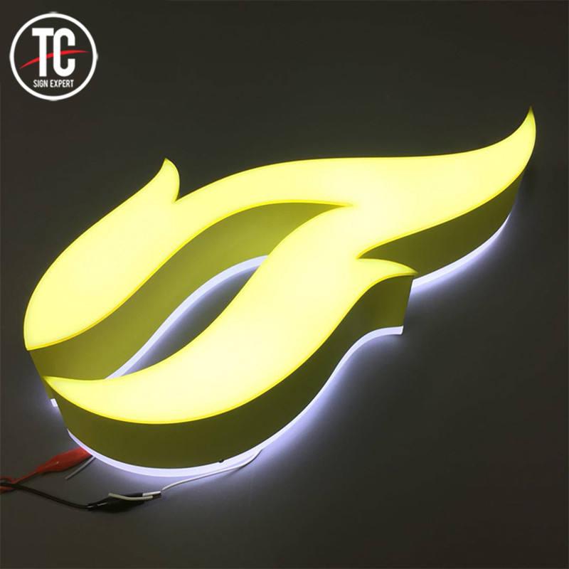 عالية مشرق الاكريليك الفلورسنت صندوق إضاءة LED <span class=keywords><strong>لافتات</strong></span> بحروف جذابة مع مزدوجة الجانبين الإضاءة