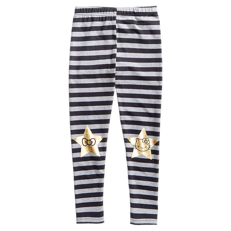 Индивидуальные модные детские штаны из 100% хлопка с мультяшным принтом, детские леггинсы для девочек