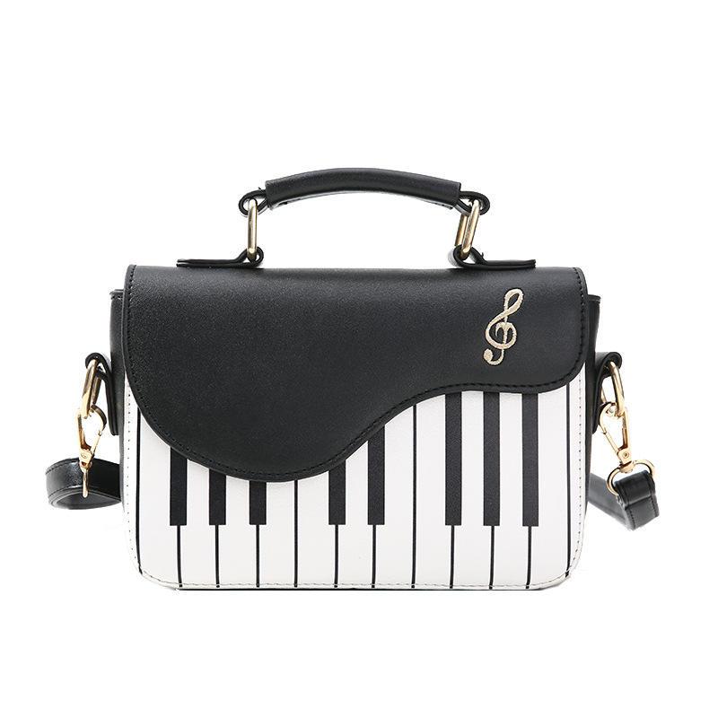 Стильная сумка-тоут из искусственной кожи с цветными блоками для <span class=keywords><strong>фортепиано</strong></span> и нот