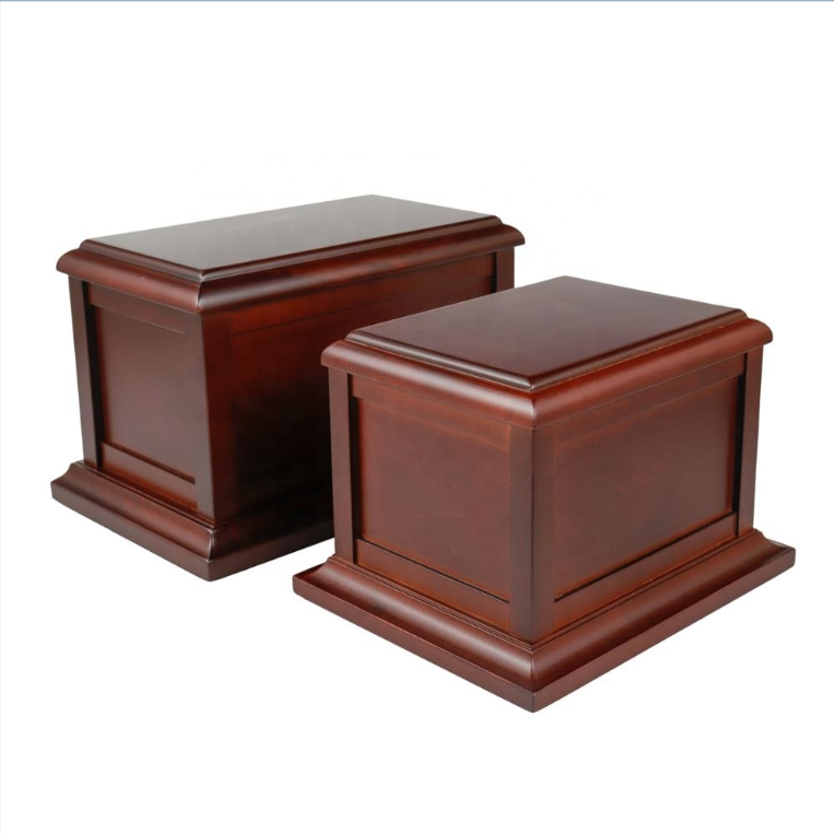 Wholesale Funeral Supplies Cremation Ashes Wooden Cinerary Casket