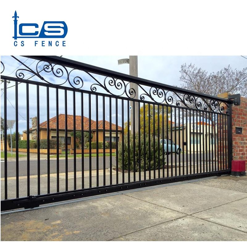 Custom automatic aluminum modern main gate design