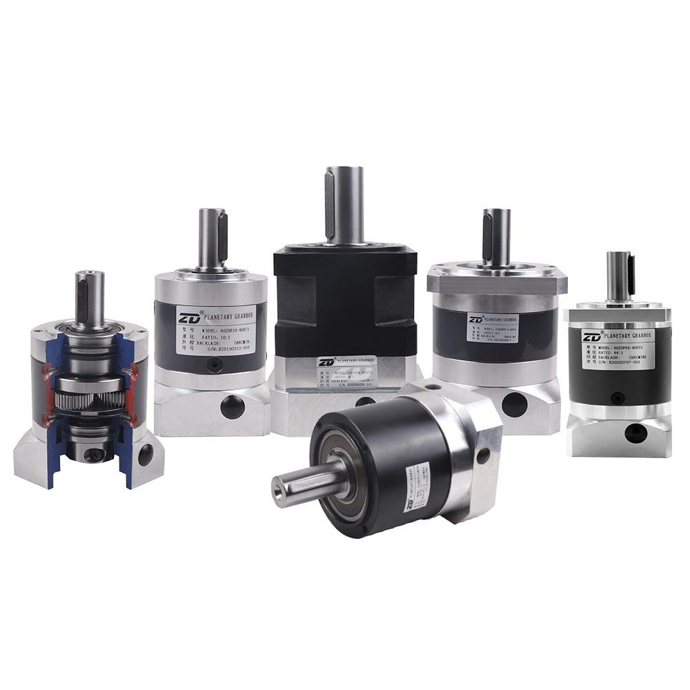 Gearbox Manufacturers ZD High Precision Low Backlash Spur Helical Gear Planetary Gearbox For Servo Motor Steeping Motor