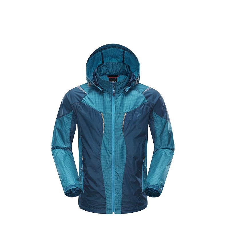 Deportes al aire libre la piel Cazadora ligera y delgada transpirable anti-ultravioleta bronceado abrigo d