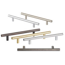 New hardware cheap solid Steel decorative stainless bedroom kitchen furniture modern T bar door cabinet drawer pull handle
